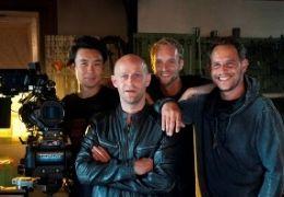 Stereo - v.l.: Kameramann Ngo the Chau, J�rgen Vogel, ...