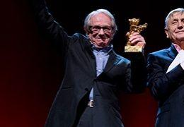 Ken Loach und der tschechische Regisseur Jiří Menzel