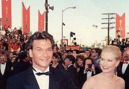 Patrick Swayze mit seiner Frau Lisa Niemi, Academy...1989