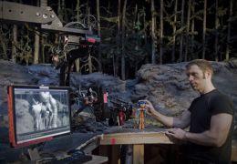 Lead animator Travis Knight checks the framing of a...Jones