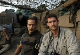 Restrepo - filmmakers Sebastian Junger (l.) and Tim...(r.)