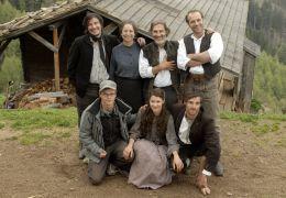 Die Egger-Familie mit Regisseur: vlnr o:Markus...blut'