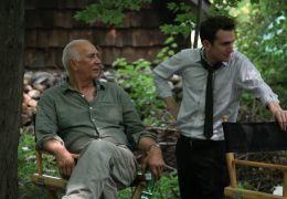 Robot and Frank - Frank Langella und Regisseur Jake...Set.