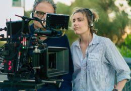 Lady Bird - Sam Levy und Greta Gerwig am Set