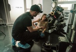 I am Mother - Regisseur Grant Sputore und Hilary...m Set
