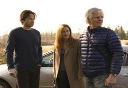 David Duchovny und Gillian Anderson mit X-Files...arter