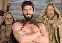 Leonidas (Sean Maguire) mit dem Orakel