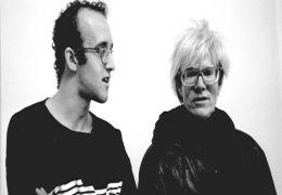 Keith Haring und Andy Warhol (rechts)