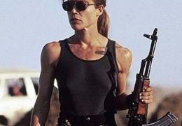 Linda Hamilton in 'Terminator 2 - Tag der Abrechnung' (1990)