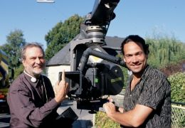 Regisseur Edgar Reitz und Produzent Christian Reitz...chts)